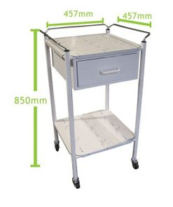 Anaesthetic Trolley 1 Drawer Stainless Steel
