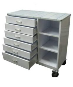 Anaesthetic Trolley 6 Drawers 3 Shelves - S/Steel top
