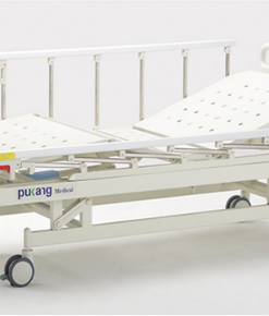 3 functions manual bed with folding sides